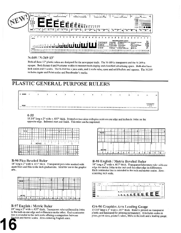 Rulers - Page 2 - Printers Parts Superstore